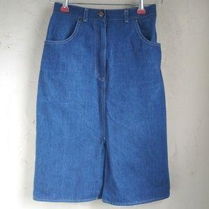 🌹Blue skins- vintage style. Denim skirt